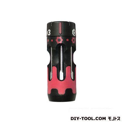 スイスツール システムドライバーショートラチェット ブラック×レッド #3 SD-SR03