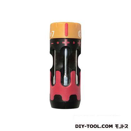 スイスツール システムドライバーショートラチェッ ブラック×レッド #7 SD-SR07