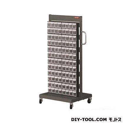 シューターキャスター付きパーツケース ブラック 96個 (MS1800)