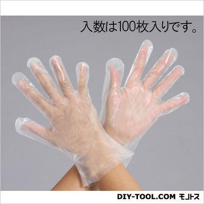 使い捨て手袋 ホワイト L EA354DS-13 100 枚