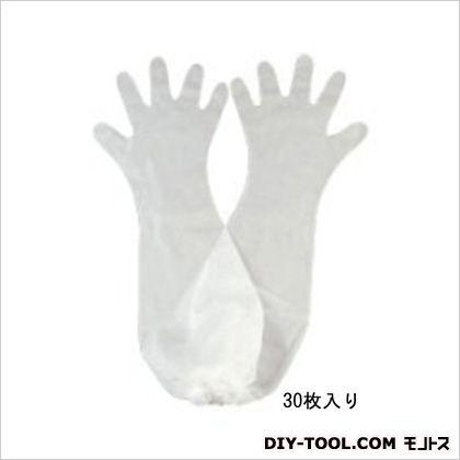 エスコ ポリエチレンロング手袋  フリー EA354GA-10 30 枚