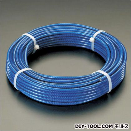 ワイヤーロープ(PVCコート)  6.0/8.0×100m EA628SM-600