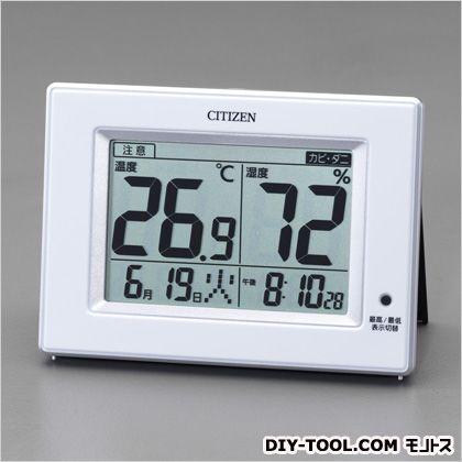 デジタル温度・湿度計  105×145×24mm EA728EB-53