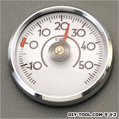 エスコ 温度計(粘着テープ付) シルバー 直径45mm EA728AC-44