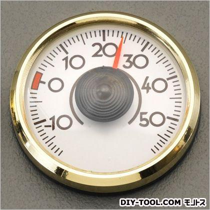 エスコ 温度計(粘着テープ付) ゴールド 直径45mm EA728AC-45