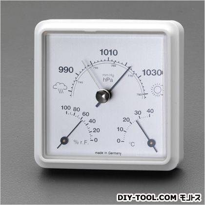 気圧・温度・湿度計  85×35×85mm EA742BA-21