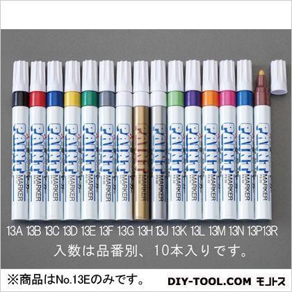 中字ペイントマーカー 緑  EA765MP-13E 10 本
