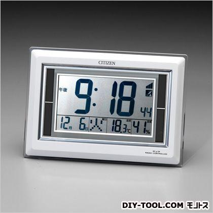 エスコ ソーラー電源[電波]置時計  182×260×25mm EA798CG-57A   その他時計 温度計・砂時計