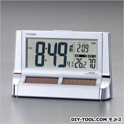 エスコ ソーラー電源[電波]掛・置兼用時計  101×160×55mm EA798CG-72