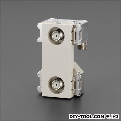 エスコ テレビコンセント(送り配線用/2端子)  44×68.7×37(D)mm EA940CE-153