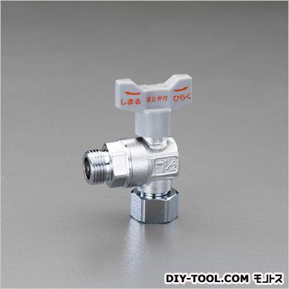 """G1/2""""xG3/4""""L型逆止弁付ボールバルブ(片ナット付)  44.0×91.5mm EA425A-23"""