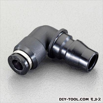 エスコ 10mmワンタッチ型プラグ(20型/エルボ) 黒  EA425NF-10