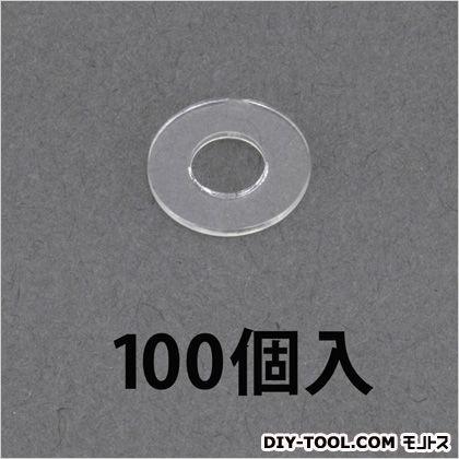 /5.5x12x0.8mm平ワッシャー(ポリカ)  M5 EA945AP-215 100 個
