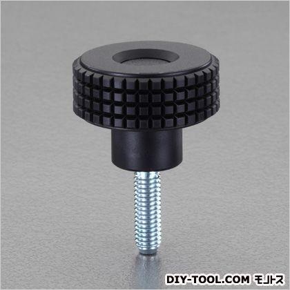 エスコ M6x20mm/直径39.5mm雄ねじノブ  D:39.5mm、H:26.5mm、D1:17mm、S:12.5mm、M:M6×20mm、Lf/L:20mm EA948BX-137A