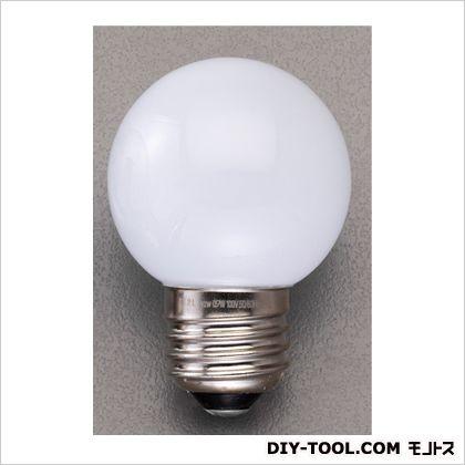 AC100V/0.9W/E26LED電球(ボール球形) ホワイト φ50×72mm EA758XK-42