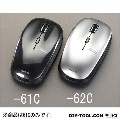 エスコ [単3x1本]ワイヤレス光学式マウス(5ボタン/ブラック) ブラック  EA764AA-61C