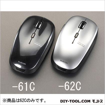 エスコ [単3x1本]ワイヤレス光学式マウス(5ボタン/シルバー) シルバー  EA764AA-62C
