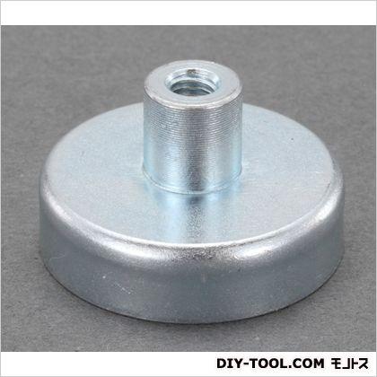 直径50x10mm強力マグネット(ねじ穴付/1個)  φ50×10(ネジ穴込:22)mm EA781EH-20 1 個