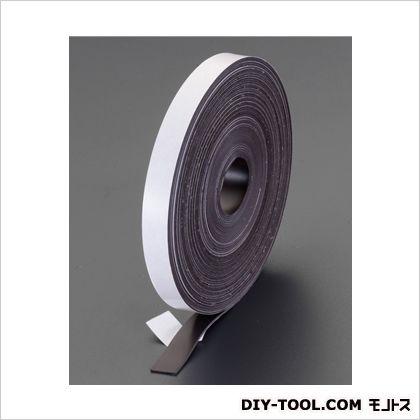 20x1.5mmx30mマグネットテープ(粘着付) 20(W)×1.5(t)mm (EA781EP-6)