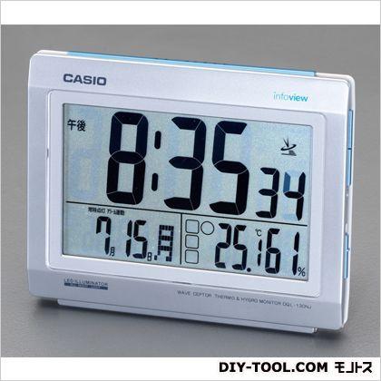 エスコ [電波]置時計  164(W)×133(D)×67(H)mm EA798CA-119