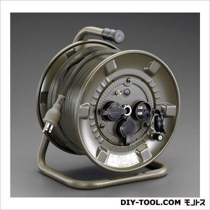 AC100V/22A/30m電工ドラム(防雨型/アース付/OD)  本体…260×220×341(H)mm EA815FD-30