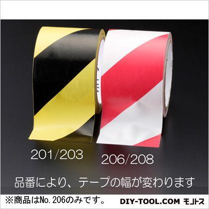 エスコ 50mmx32.4m危険警告テープ 赤/白  EA983G-206