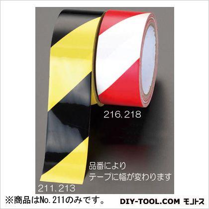 エスコ 50mmx32.4m危険警告テープ(ラミネート) 黄/黒  EA983G-211