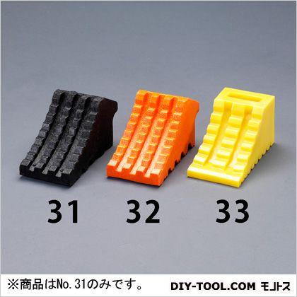 120x240x130mmタイヤストッパー 黒 120(W)×240(D)×130(H)mm EA984VA-31