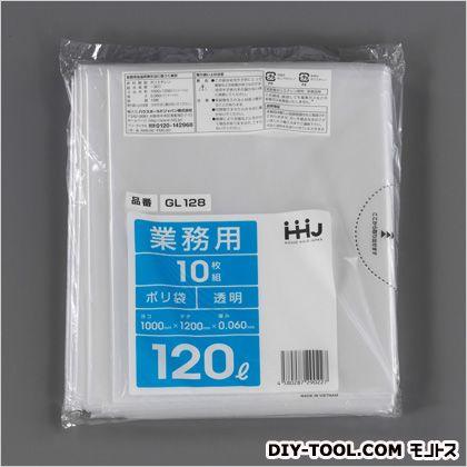 1000x1200x0.06mm/120Lごみ袋  1000×1200mm120L EA995AD-121 10 枚
