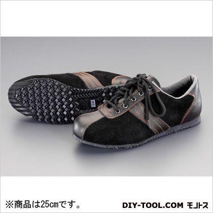 25.0cm安全靴(革製) 黒/黒 25cm EA998RS-25