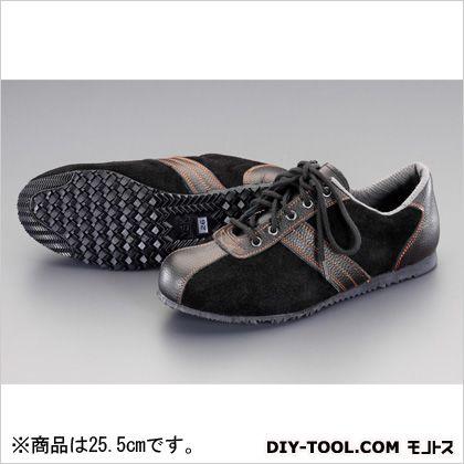 25.5cm安全靴(革製) 黒/黒 25.5cm EA998RS-25.5