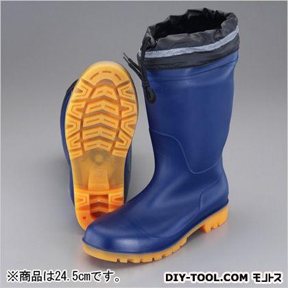 エスコ 24.5cm安全長靴(踏抜き防止/耐油底)  24.5cm EA998RV-24.5   耐油・耐薬品用安全靴 安全靴