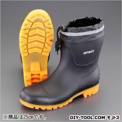 25.0cm安全長靴 黒 25cm (EA998XY-25)