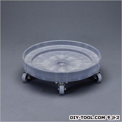 ドラム缶ドーリー(ポリプロピレン製)  φ610×180(H)mm(キャスターなし:102(H)mm) EA520W-4