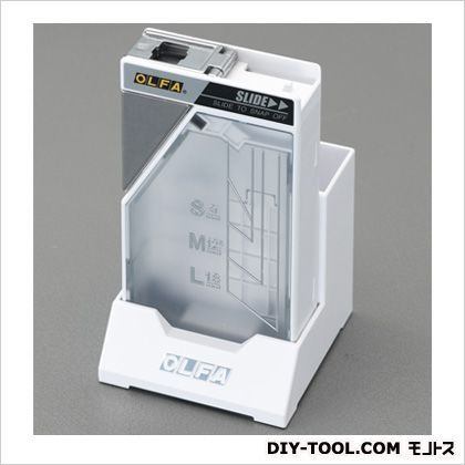 エスコ スタンド式刃折器  本体:60×20×110(H)mm スタンド使用時:66×66.5×116(H)mm EA589BR-14