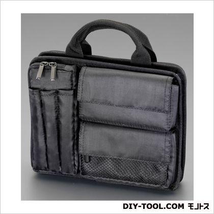 エスコ 225x65x170mmビジネスバッグ(タブレットPC用) 黒  EA927BA-62A
