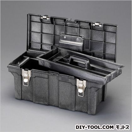 660x292x283mmツールボックス(樹脂製) ブラック  EA960AN-1