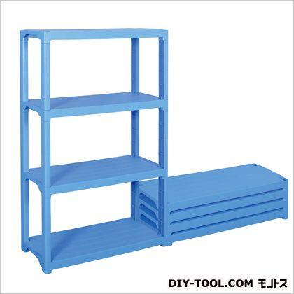 1200x450x1800mm/4段ラック棚(プラスチック製) ブルー 1200(W)×450(D)×1800(H)mm EA976AL-3