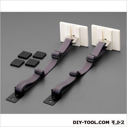 エスコ 30x30mm粘着固定具(32-40型テレビ用/2セット)   EA979D-124 2 セット