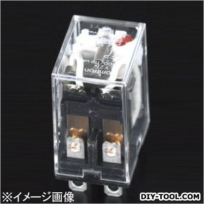AC100V/2c/10A[LED付]汎用リレー(CR回路) 21.5×28×36mm (EA940MP-1C)