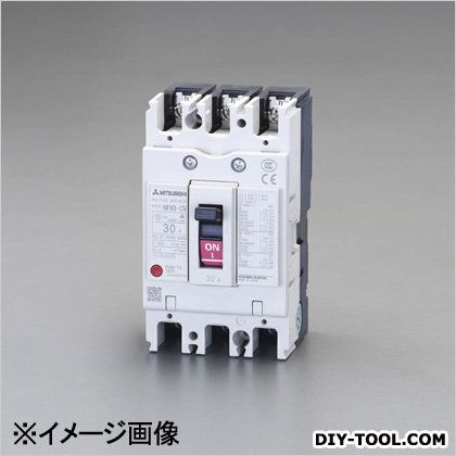 エスコ 240V/40A/3極ノーヒューズ遮断器(フレーム50)   EA940MM-30