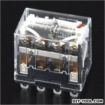 DC24V/4c/10A[LED付]汎用リレー(ダイオード内蔵)  41.5×28×36mm EA940MP-23H
