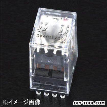 AC100V/4c/3A[LED付]汎用リレー(CR回路)  21.5×28×36mm EA940MP-41C