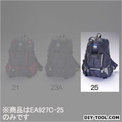 エスコ リュックサック 黒/カーキ 400x465x200mm EA927C-25