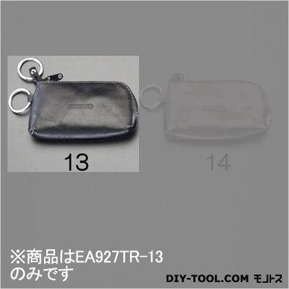 エスコ キーケース(本革製) ブラック 120x70mm EA927TR-13