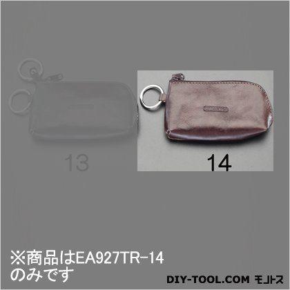 エスコ キーケース(本革製) ブラウン 120x70mm EA927TR-14
