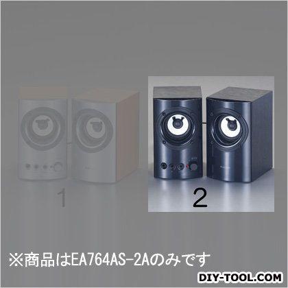 エスコ スピーカー ブラック 80x110x130mm EA764AS-2A