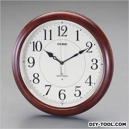 エスコ [電波]掛時計  直径34cm EA798CD-6A