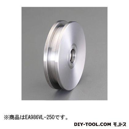 エスコ [コ型/枠無]重量戸車(ステンレス製)  50mm EA986VL-250