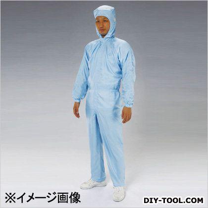 クリーンルーム用フード付継ぎ服(センターファスナー) 青 3L EA996DE-14